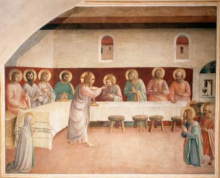 Istituzione eucaristia Fra Angelico Pantos