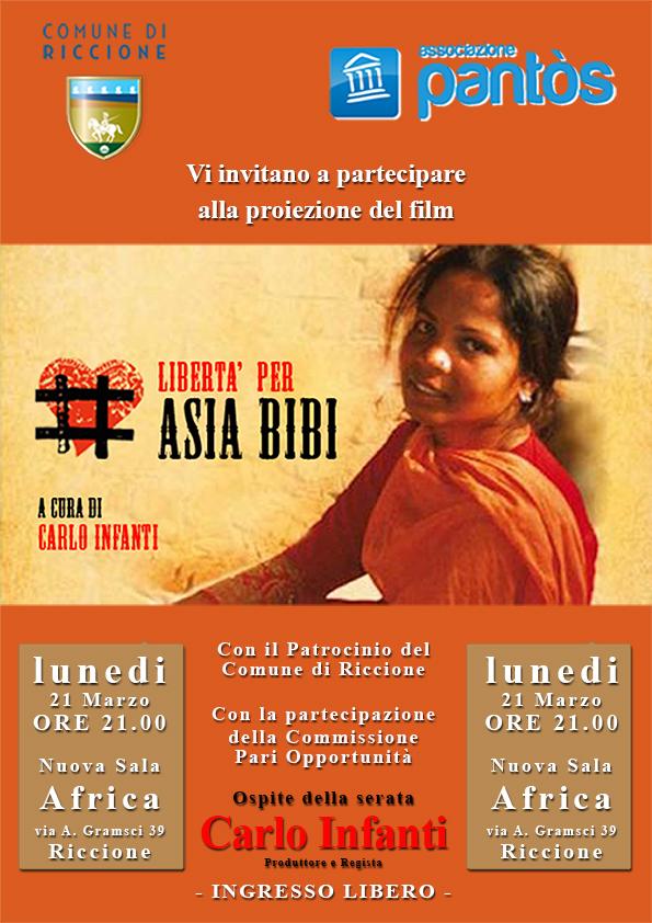 Locandina Asia Bibi facebook e whatsapp